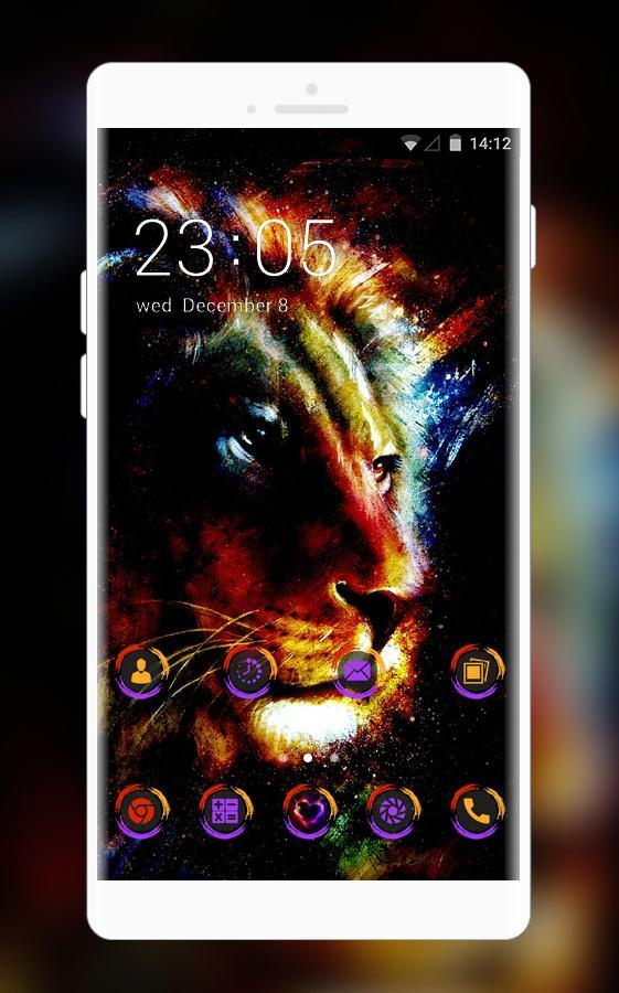 Neon Lion Live Wallpaper Purple Icon Free For Android Apk