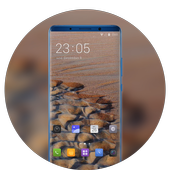 Theme for OPPO realme 2 sand beach wallpaper icon