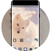 winter fox theme white animal wallpaper icon