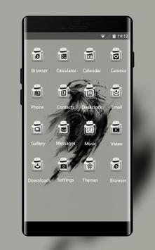 Animal theme wallpaper eagle art black paint screenshot 1