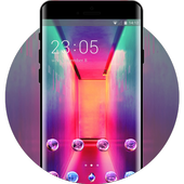 abstract colorful  light theme icon