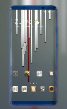 Theme for Mi Redmi Metal stripe simple wallpaper poster