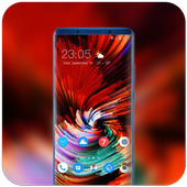 Theme for Mi 8 SE abstract colorful rotate ios12 icon