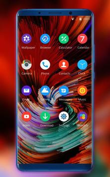 Theme for Mi 8 SE abstract colorful rotate ios12 screenshot 1