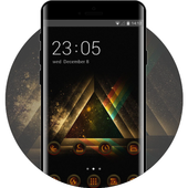 Abstract theme ac07 wallpaper triangle art icon