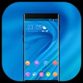Theme for Elephone A4 Pro blue bright wallpaper icon