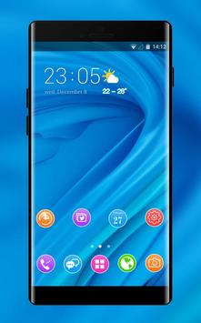Theme for Elephone A4 Pro blue bright wallpaper poster