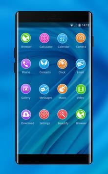 Theme for Elephone A4 Pro blue bright wallpaper screenshot 1