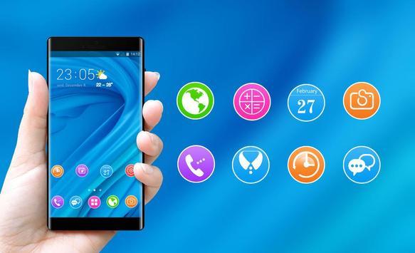 Theme for Elephone A4 Pro blue bright wallpaper screenshot 3