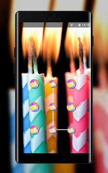 Abstract theme candles with stripes hmm space poster