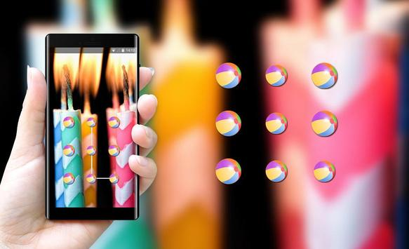 Abstract theme candles with stripes hmm space screenshot 2