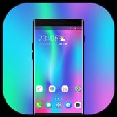 Theme for Vivo V9 X21 colorful art design change icon