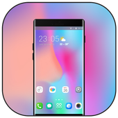 Theme for Vivo V9 X21 colorful simple wallpaper icon