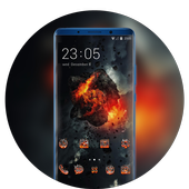 Theme for damage war black wallpaper icon