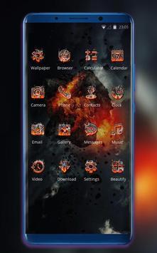 Theme for damage war black wallpaper screenshot 1