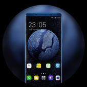 Theme for OPPO realme 2 earth galaxy wallpaper icon