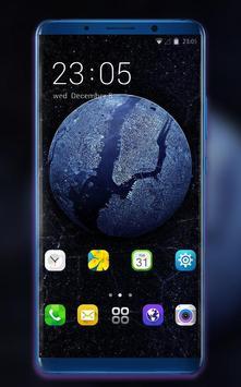 Theme for OPPO realme 2 earth galaxy wallpaper poster