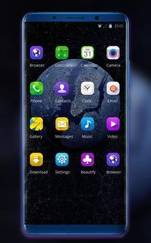 Theme for OPPO realme 2 earth galaxy wallpaper screenshot 1