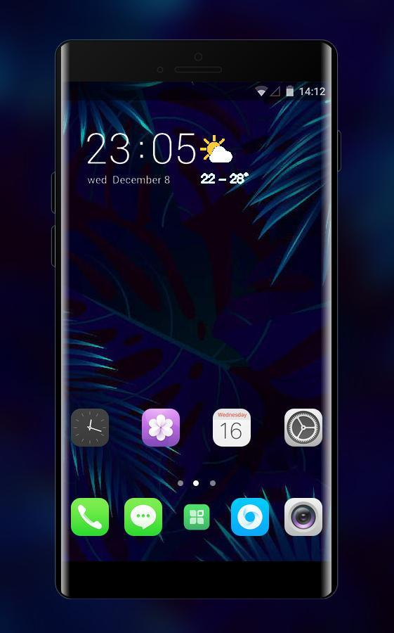 Theme For Oppo F5 Abstract Leaf Black Wallpaper For Android