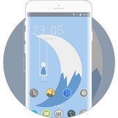 Theme for abstract pure illustration wallpaper icon
