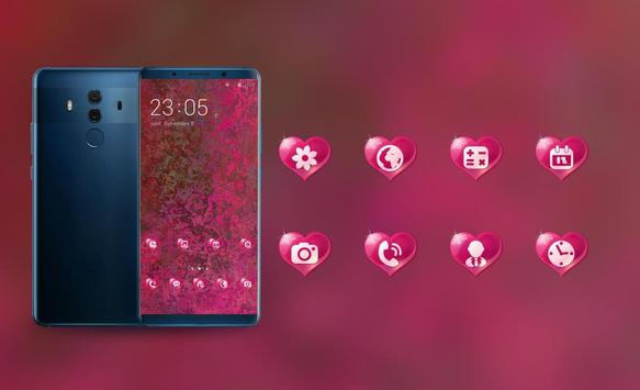 Abstract love red Theme for Nokia X6 wallpaper screenshot 3