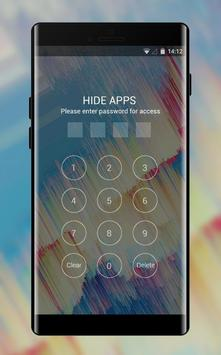 Abstract theme moving dot color blue pattern apk screenshot