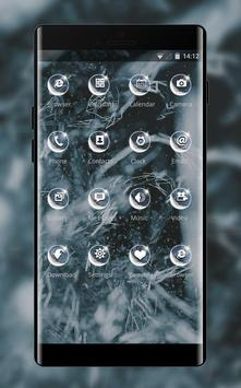 Abstract theme snow dark dot line pattern apk screenshot
