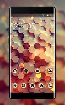 Abstract theme honey hexagon digital pattern poster