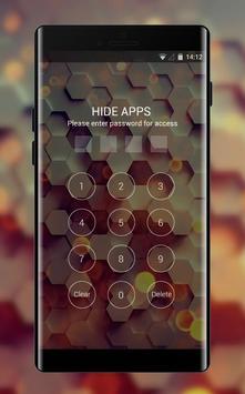 Abstract theme honey hexagon digital pattern apk screenshot