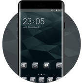 Abstract theme dark pattern daily icon