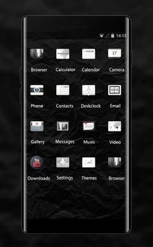 Abstract theme vc16 paper creased dark texture screenshot 1