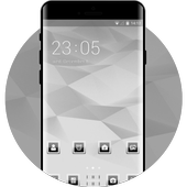 Abstract theme vd77 noir white by boris p borisov icon