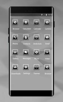 Abstract theme vd77 noir white by boris p borisov apk screenshot