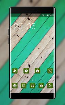 Abstract theme vm06 stripe green wood pattern poster