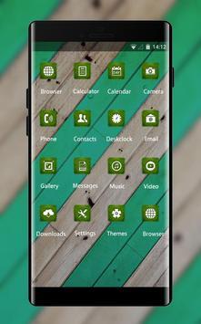 Abstract theme vm06 stripe green wood pattern apk screenshot