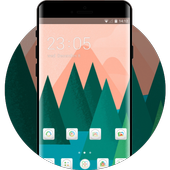 Theme for Mi A1 abstract trees drawing wallpaper icon