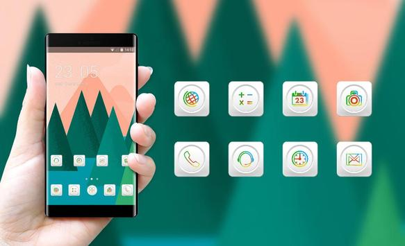 Theme for Mi A1 abstract trees drawing wallpaper screenshot 3