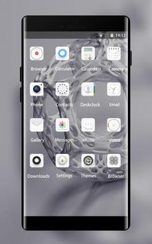 Theme for LG Q6 abstract plastic figure wallpaper Screenshot 1