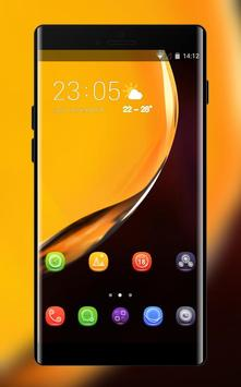 Theme for Elephone A4 Pro yellow smooth wallpaper poster