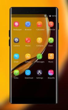 Theme for Elephone A4 Pro yellow smooth wallpaper screenshot 1