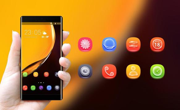 Theme for Elephone A4 Pro yellow smooth wallpaper screenshot 3