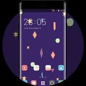 Neat Theme Cartoon Launcher Purple Wallpaper icon