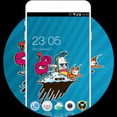 Animation Graffiti Theme: Pop Color Wallpaper HD icon