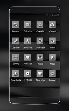 Black and White Stylish Theme for Huawei P10 Lite screenshot 1
