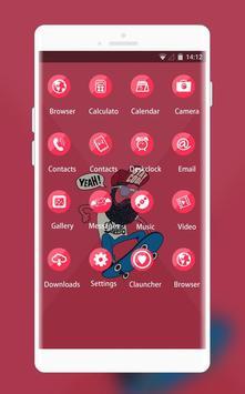 Comics Cool Theme: Hipster skateboard HD wallpaper screenshot 1
