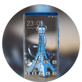 Theme for presents paris tower model wallpaper icon
