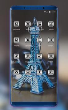Theme for presents paris tower model wallpaper screenshot 1