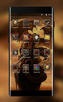 Theme for beast dragon warrior wallpaper screenshot 1