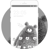 Cartoon Theme: Drawing Chicago Bear Live Wallpaper icon