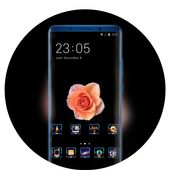 Theme for beautiful champagne rose wallpaper icon